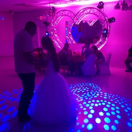 $1,000 Platinum  Package (Sweet Heart Set Up) 12'W X 9'H